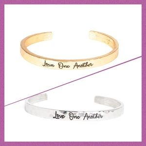 Paparazzi 2 cuffs love one another  gold & silver